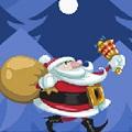 圣诞老人过桥html5游戏源代码(完善黑屏版本)免费下载